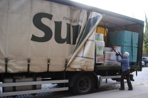 Suma's first delivery in Dundee, ??.09.14.