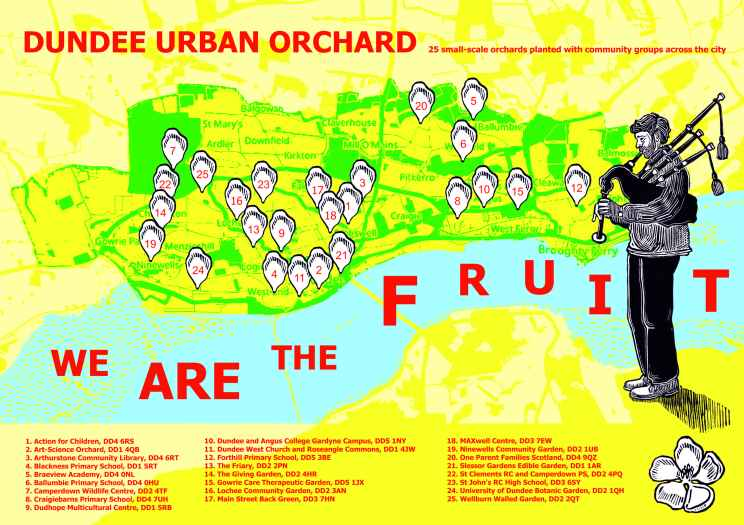 g. Dundee Urban Orchard - Map, 2017.